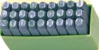 Клейма буквенные № 6, стальные (латинский шрифт)