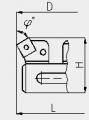 Блок расточной двухрезцовый, расточка  63...82мм, скв. отв.